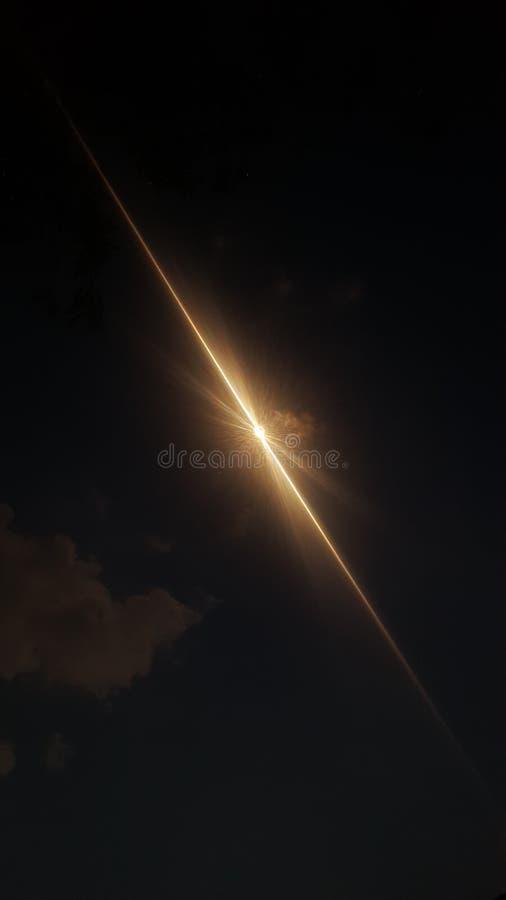 Słonecznego zaćmienia pełna ścieżka obrazy royalty free