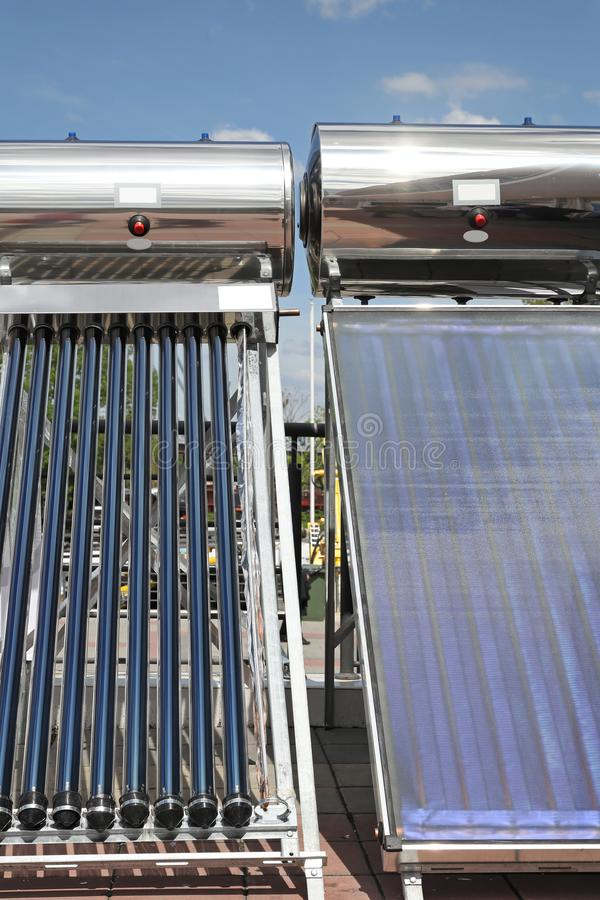 Słoneczni nagrzewacze zdjęcie stock