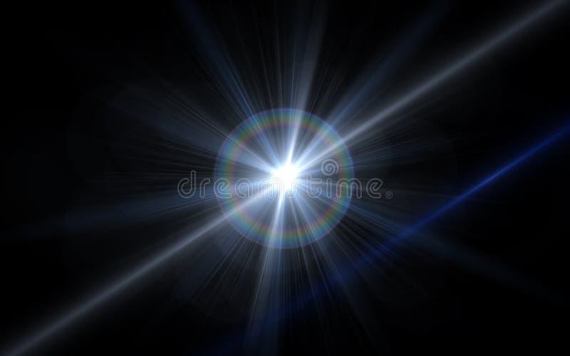 słoneczni obiektywu racy skutki Abstrakcjonistyczny okręgu Cyfrowego obiektywu raca, obiektywu raca, lekcy przecieki, Abstrakcjon ilustracja wektor