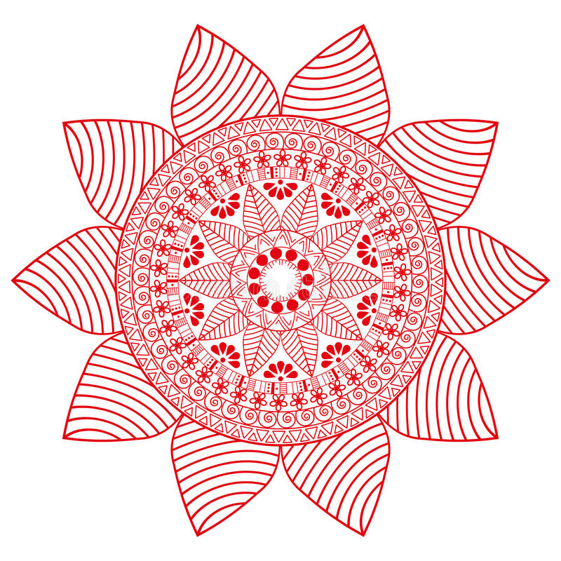 Słoneczników mandala, abstrakcjonistyczny tekstury tło royalty ilustracja