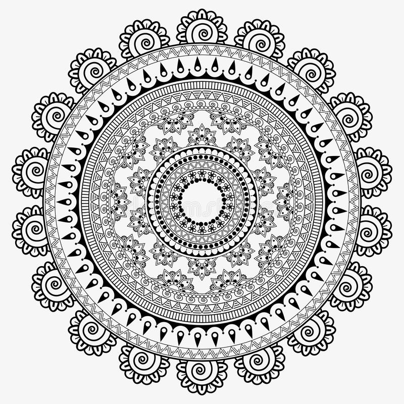 Słoneczników mandala, abstrakcjonistyczny tekstury tło ilustracja wektor