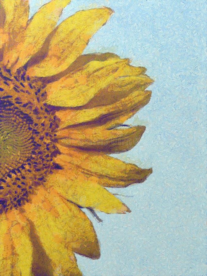 Słonecznik na letnim dniu ilustracji