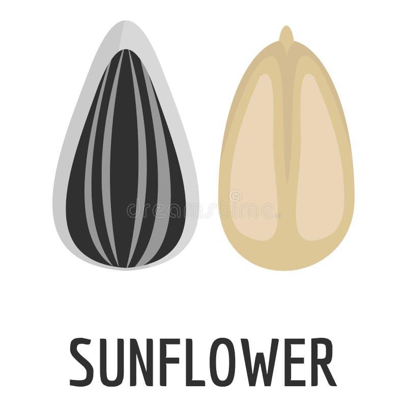 Słonecznikowego ziarna ikona, mieszkanie styl ilustracja wektor