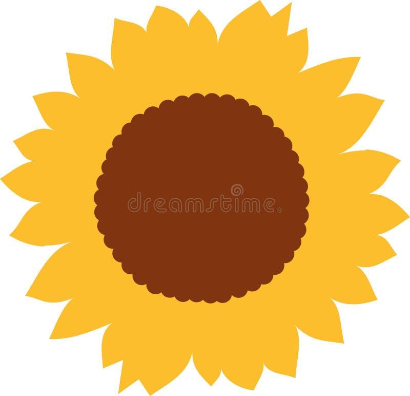 Słonecznikowy okwitnięcie wektor ilustracja wektor