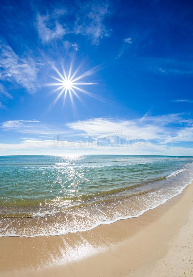 Słoneczny dzień nad zatoką meksykańską na St George wyspie Floryda obraz royalty free
