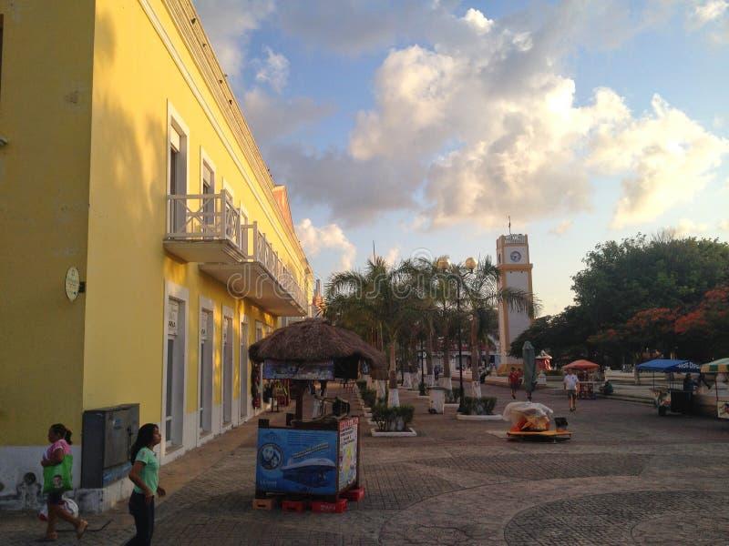 Słoneczny dzień w Cozumel wyspie w Meksyk fotografia stock