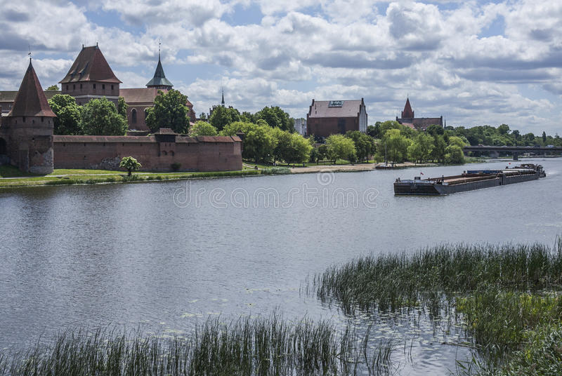 Słoneczny dzień w Malbork kasztel zdjęcia stock