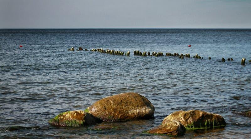 Słoneczny dzień w morzu bałtyckim obrazy royalty free