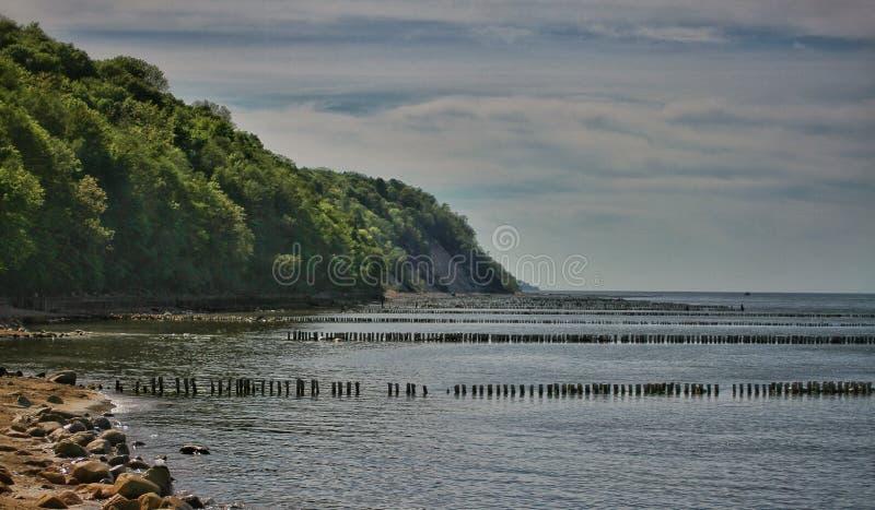 Słoneczny dzień w morzu bałtyckim zdjęcie stock