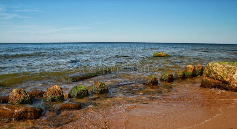 Słoneczny dzień w morzu bałtyckim obrazy stock