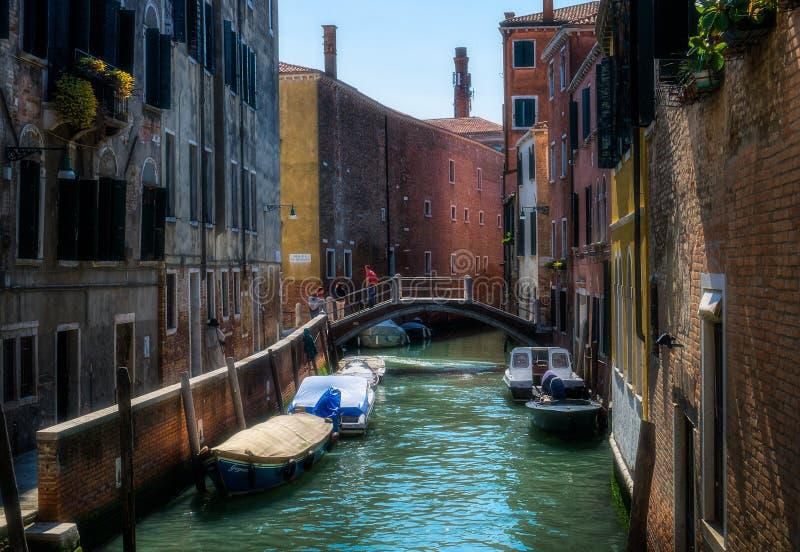 Słoneczny dzień w Wenecja i jaskrawy Włochy zdjęcia stock