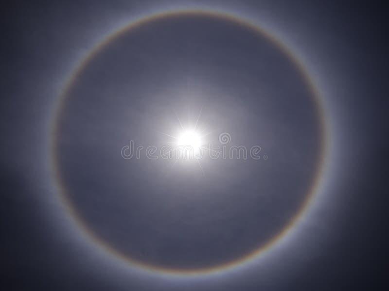 Słoneczny halo obraz royalty free