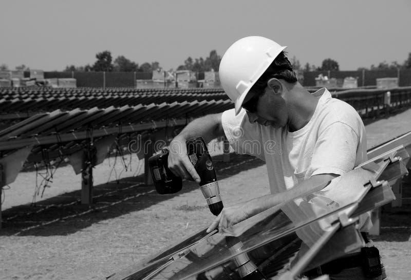 słoneczny instalacyjny panel zdjęcia stock