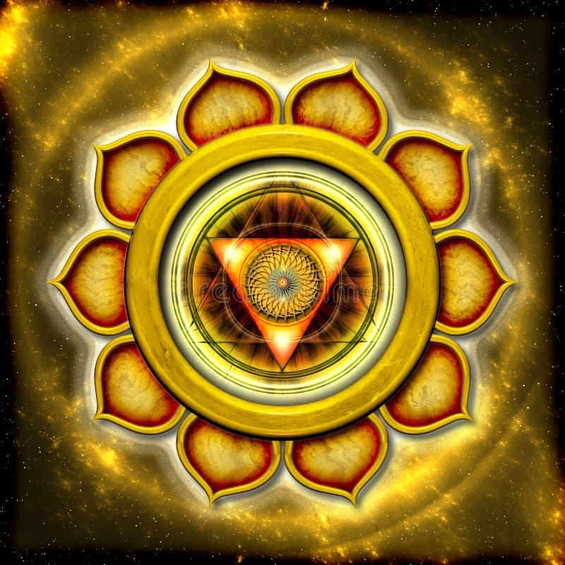 Słoneczny Plexus Chakra royalty ilustracja