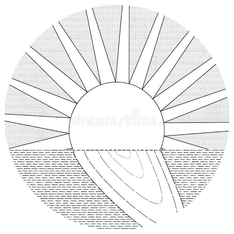Słoneczny Szlakowy gatunku minimalizm royalty ilustracja