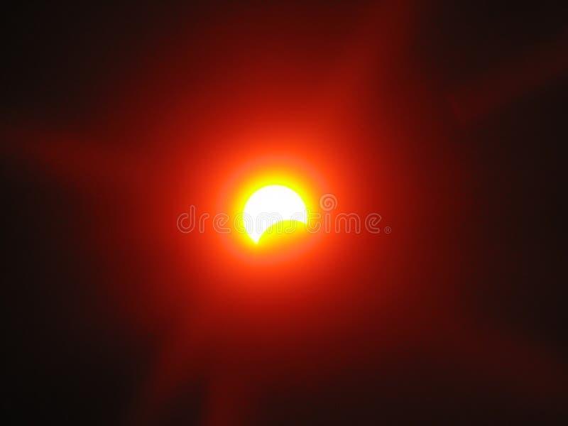 słoneczny Ukraine częściowe zaćmienie. zdjęcia royalty free