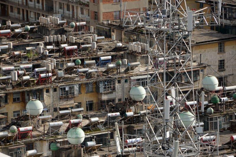 Słoneczny Wodny nagrzewacz w Chiny obrazy stock