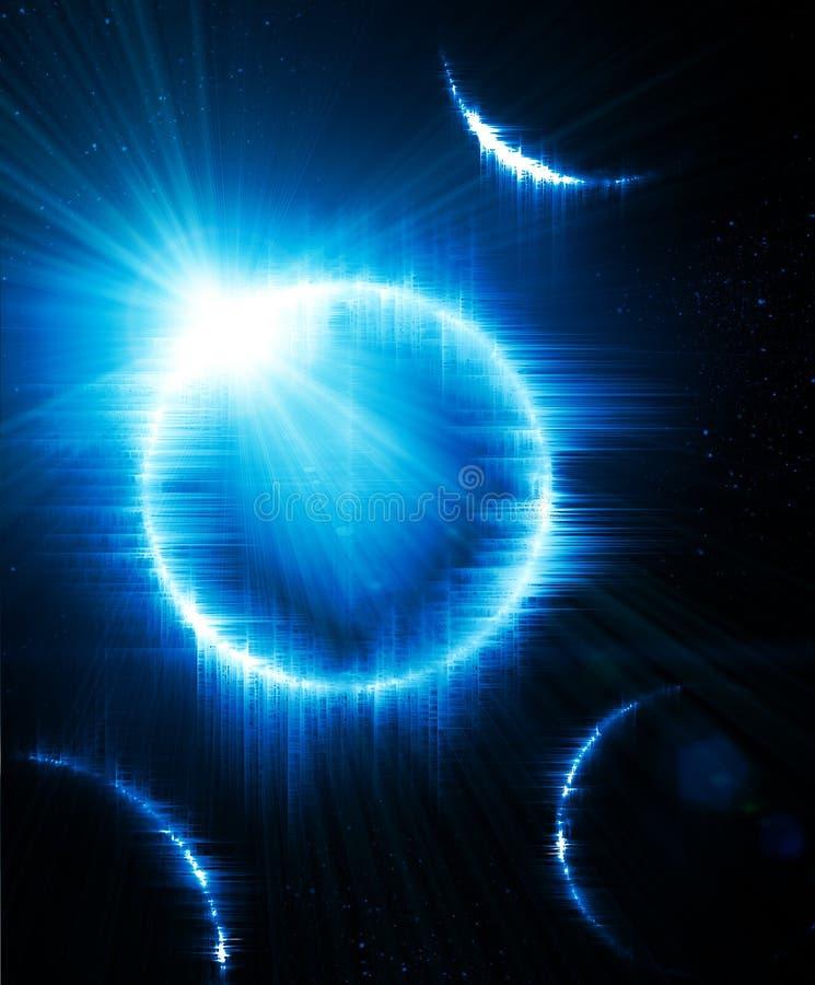 Słoneczny zaćmienie royalty ilustracja