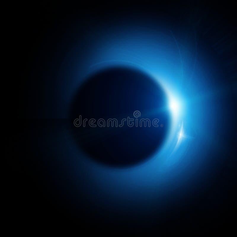 Słoneczny zaćmienie ilustracji
