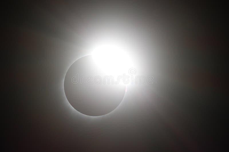 Słoneczny zaćmienie Sierpień 21, 2017 zdjęcia stock