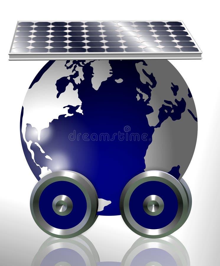 słoneczny ziemski panel ilustracji