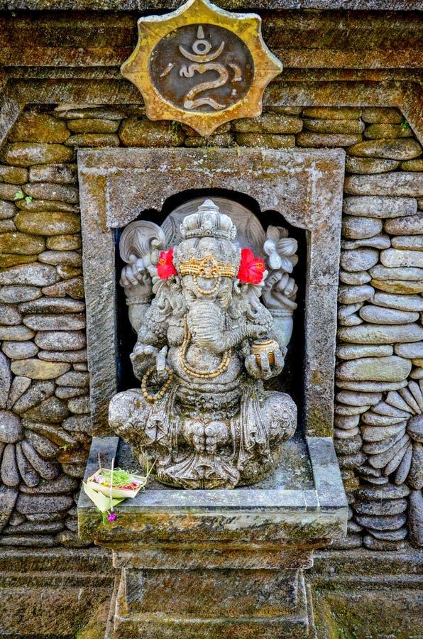 Słonia bóg statuy dla z cześć przy Bali obrazy royalty free