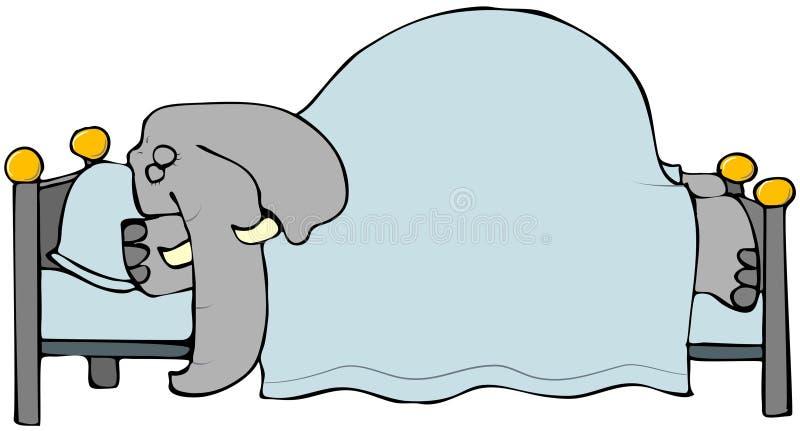 słonia dosypianie royalty ilustracja
