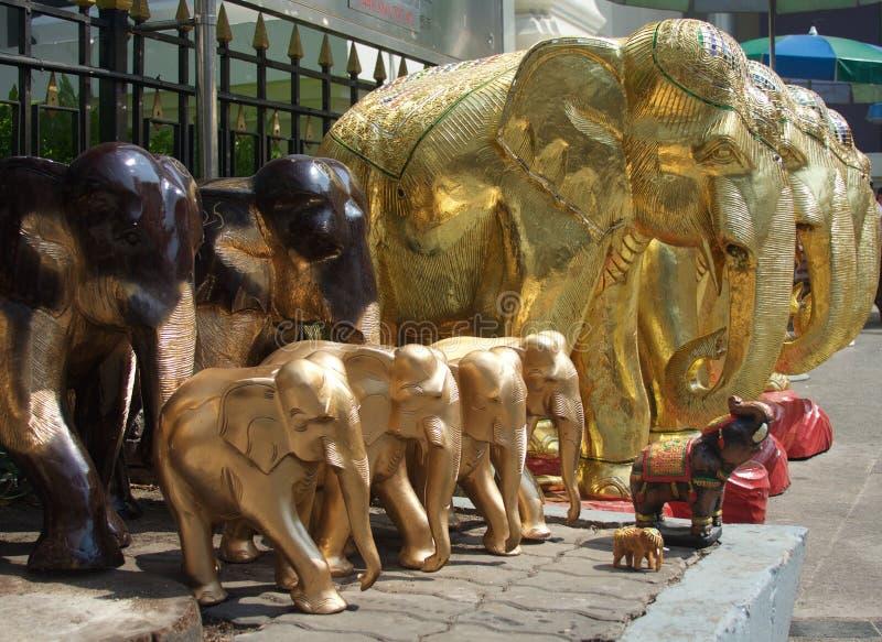 Słonia drewniany rzemiosło fotografia royalty free