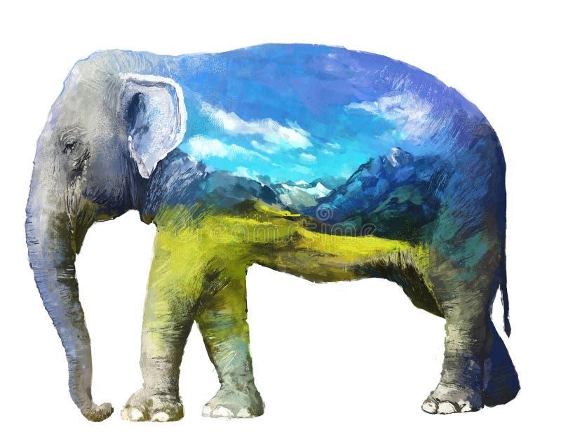 Słonia dwoistego ujawnienia ilustracja royalty ilustracja