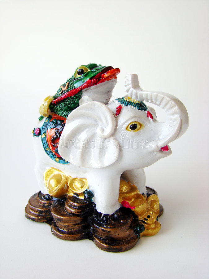 słonia feng shui obraz stock