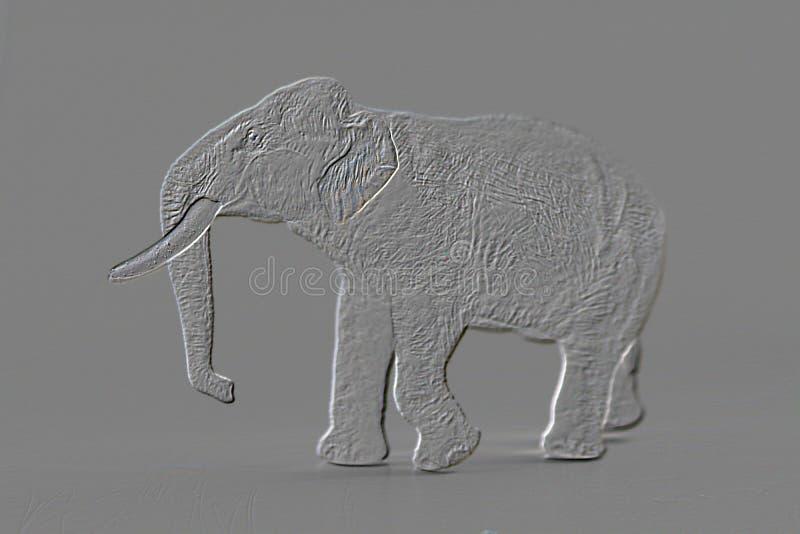 Słonia model, Emboss tło fotografia royalty free