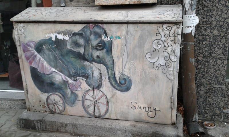 Słonia oszczędnościowy pudełko obrazy stock
