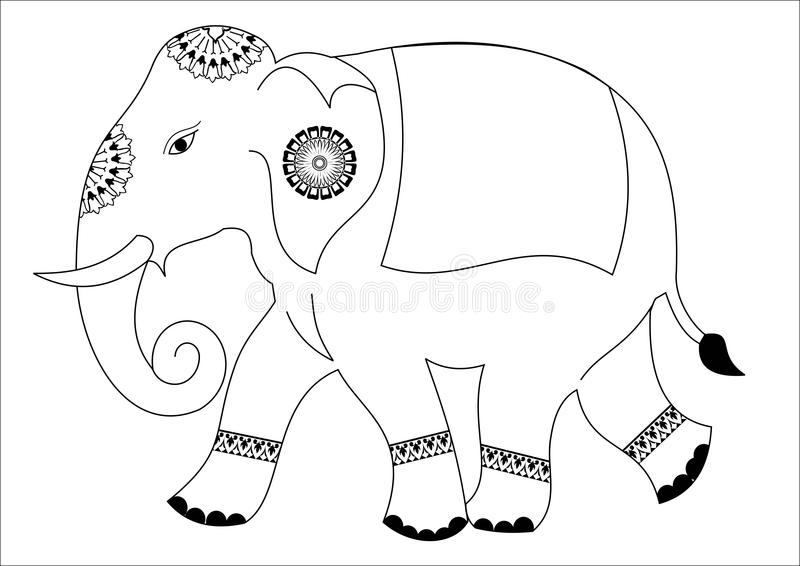 Słonia projekt fotografia stock
