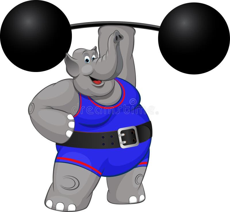 Słonia siłacz royalty ilustracja
