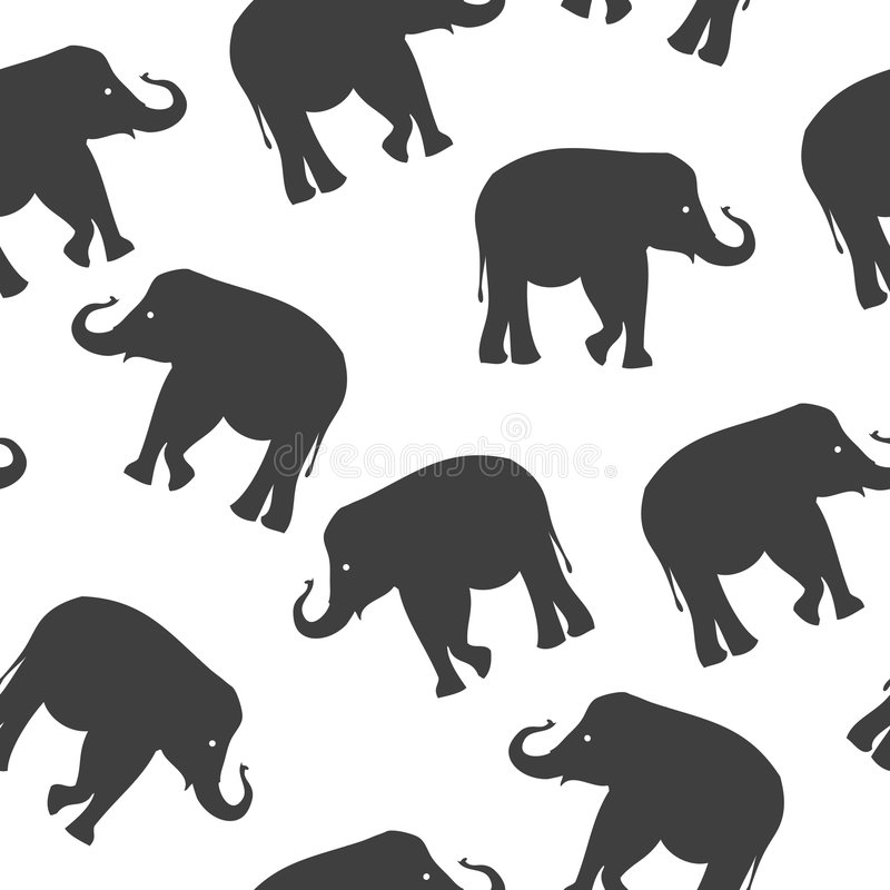słonie royalty ilustracja