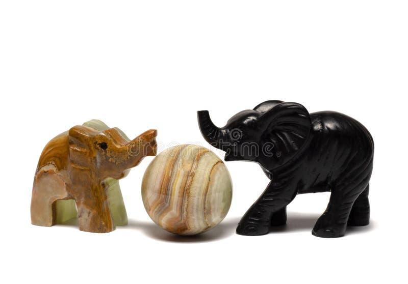 słonie i piłka obraz royalty free