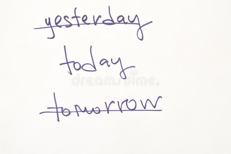 Słowa dla motywacji na początku dnia zdjęcie stock