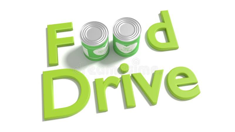 Słowa jedzenia przejażdżka na bielu dokąd o jedzenie jest zamieniającym b ilustracji