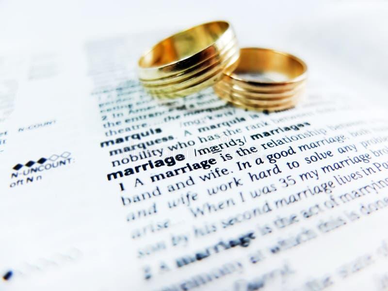 Słowa małżeństwo zdjęcie royalty free
