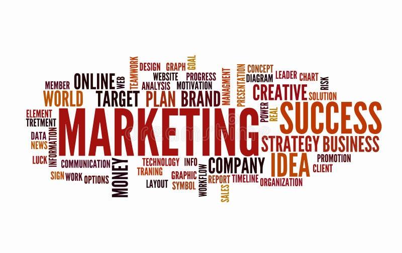 Słowa obłoczny biznesowy pojęcie Marketingowa reklama od teksta royalty ilustracja