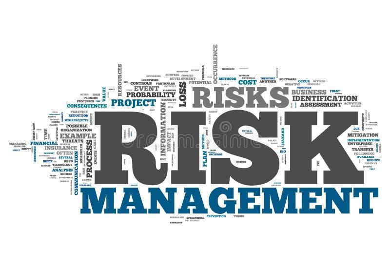 Słowa Obłoczny zarządzanie ryzykiem ilustracji