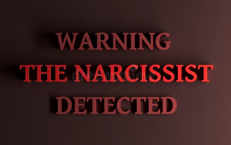 Słowa ostrzeżenie narcyzowaty wykrywający « ilustracji