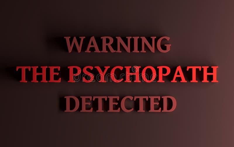 Słowa ostrzeżenie psychopata wykrywający « ilustracji