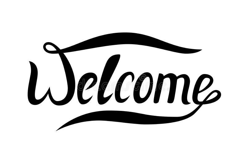 Słowa powitanie dla twój projekta sztandaru eps10 kartoteka ablegrujący wektor czerń ilustracja wektor