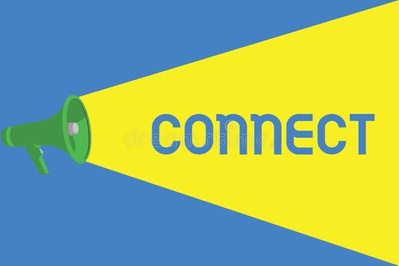 Słowa writing tekst Łączy Biznesowy pojęcie dla Być wpólnie Kontaktowym współpracownikiem Odnosić sie networking komunikuje ilustracja wektor