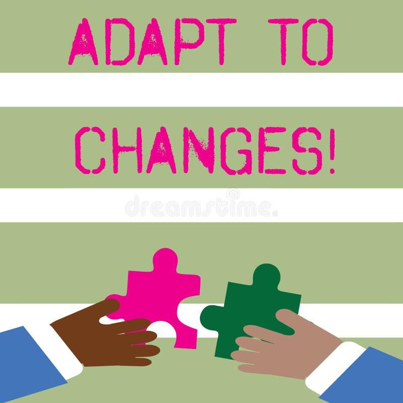 Słowa writing tekst Adaptuje zmiany Biznesowy pojęcie dla Nowatorskiej zmiany adaptacji z technologiczną ewolucją Dwa royalty ilustracja