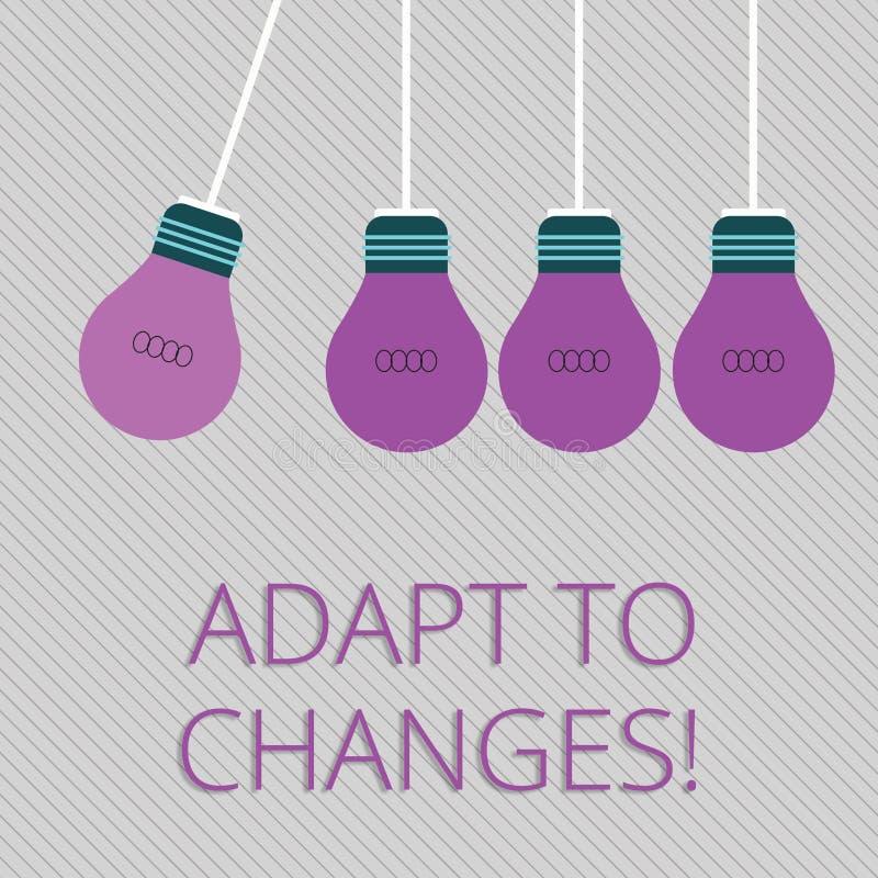 Słowa writing tekst Adaptuje zmiany Biznesowy pojęcie dla Nowatorskiej zmiany adaptacji z technologicznym ewolucja kolorem ilustracji
