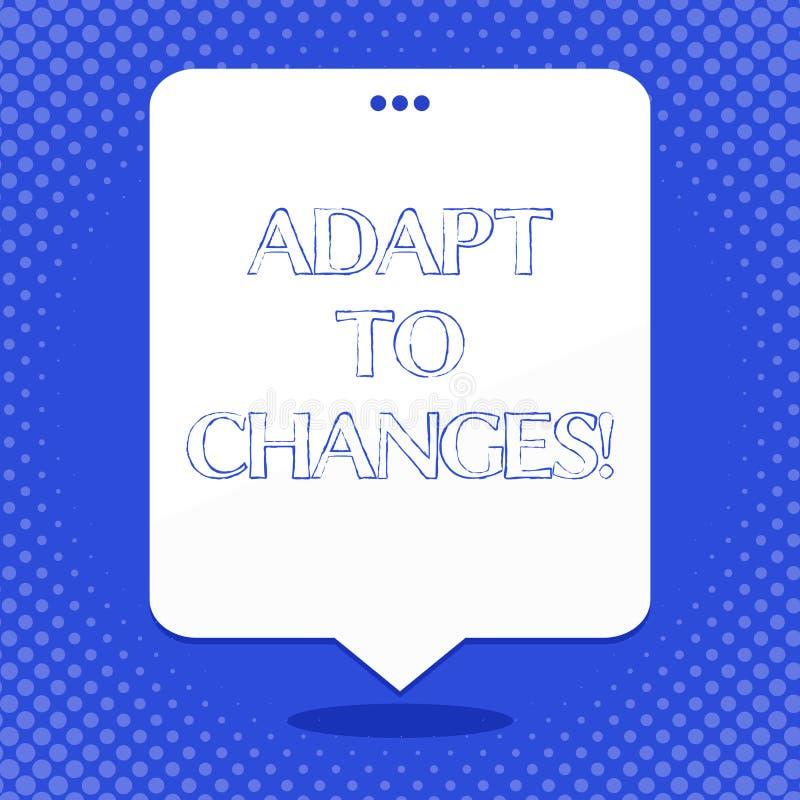 Słowa writing tekst Adaptuje zmiany Biznesowy pojęcie dla Nowatorskiej zmiany adaptacji z technologicznym ewolucji pustym miejsce ilustracji