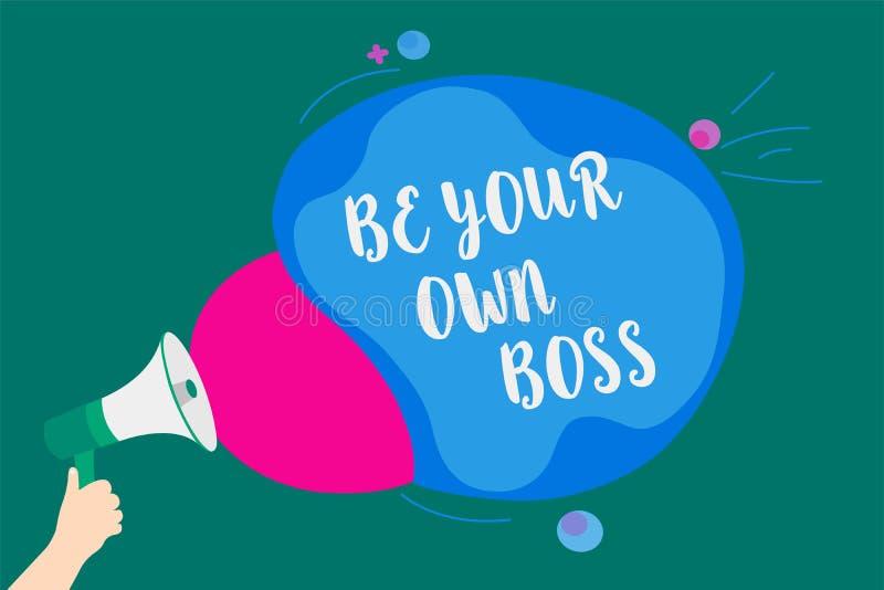 Słowa writing tekst Był Twój Swój szefem Biznesowy pojęcie dla przedsiębiorczość początku biznesowej niezależności Samozatrudniaj ilustracji