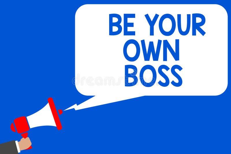 Słowa writing tekst Był Twój Swój szefem Biznesowy pojęcie dla przedsiębiorczość początku biznesowej niezależności Samozatrudniaj ilustracja wektor
